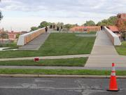 A better look at the raised park space atop the St. Elizabeths East Gateway Pavilion.
