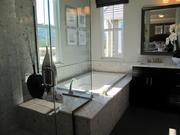 A master bathroom in one of the model homes in Orinda Grove.