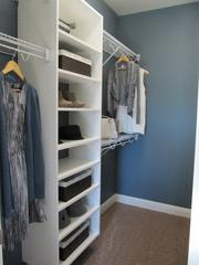 Many of the homes feature walk-in closets.