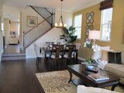 A living room in one of the Orinda Grove model homes.