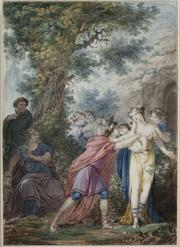Jean Guillaume Moitte: Telemachus Embracing Love Held in Arms of Eucharis