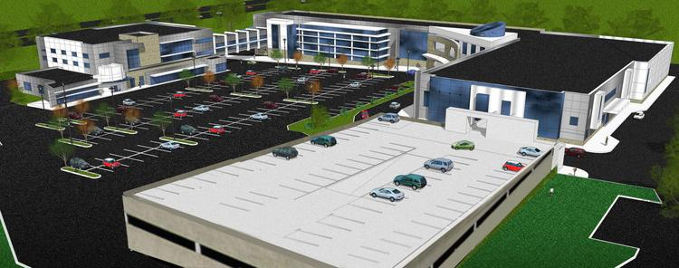 A rendering of the LifeStyle Comprehensive Healthcare Center being built in Bensalem, Pa.
