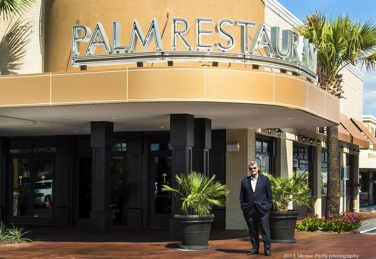 Jim Martin, The Palm's executive director in front of the newly renovated restaurant in Houston on Westheimer.  Click through the slideshow for more images of The Palm Houston.