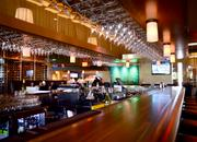 An expansive bar area for relaxation and casual dining