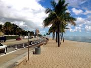 Restored beach along State Road A1A in Fort Lauderdale.