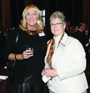Christie-Ann Conrad, left, of Crossroads Speech and Hearing Inc. and Janis Finn of Allegheny Health Network
