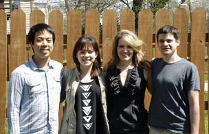 Farmplicity founders, from left: Andrew Lin, Jolijt Tamanaha, Lauren Ortwein and Drew Koch.