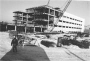 Froedtert Hospital under construction at the Milwaukee County Regional Medical Center in the late 1970s.