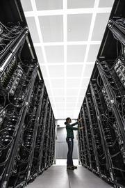 By the end of the year, BP hopes to move all elements of its supercomputer into its new facility.