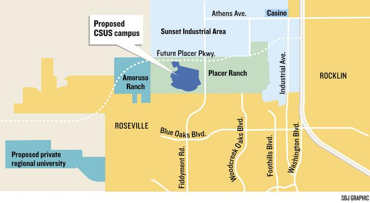 Map: Placer Ranch and proposed college campuses