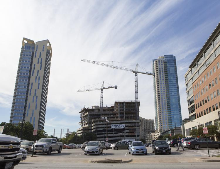 The apartment market in Austin continues to be robust. The 3 Eleven Bowie apartments near Whole Foods' flagship store at Sixth Street and Lamar Boulevard will rise about 36 stories. Endeavor Real Estate Group is developing with Lynd Co. For more: bizj.us/bd41r
