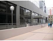 """This is the """"after"""" picture of the 18th Street side of 707 17th Street. Crescent's Ashton Steele, senior property manager, said improvements included """"punching out the lobby access,"""" creating a double-door entry. """"We wanted to make the entry more prominent,"""" Steele said."""