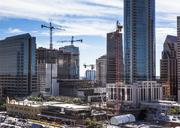 Here's another look at the JW Marriott going up. In the foreground is the crane building Colorado Tower.