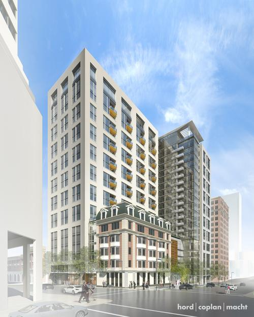 Dual 24 Story Apartment Towers Debut At 8th Spring: 1 Light St. Apartment Tower Takes Step Forward
