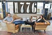 1776 co-founders Evan Burfield and Donna Harris share management duties at 1776, part co-working, part event space, part classroom and part beacon.