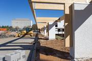 A walkway will provide cover from the parking lot to the front of the Whole Foods in Columbia.