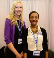 Andrea Mickelson and Larrica Hubbard with Alzheimer's Association.