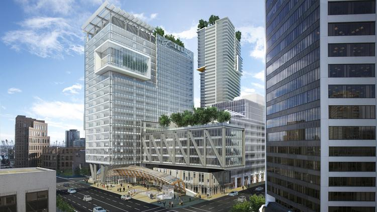 amazoncom is leasing a large amount of space in telus garden a mixed amazon office space