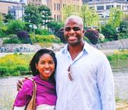 Dr. Jenel Wyatt and her husband vacationing in 2008.