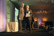 Jim Faraudo accepts an award for Flir Systems Inc. as a finalist in the large companies category.