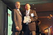 Walter Westmoreland of Lam Research accepts an award as a finalist in the large companies category.