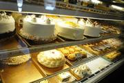 Various cakes, pies, cupcakes and pastries on display at Liliha Bakery.