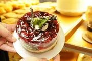 Liliha Bakery's cherry cheesecakes are popular with customers.