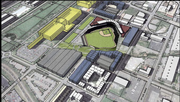 Rendering of the proposed Sounds stadium.