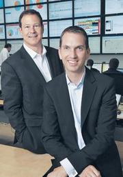 $225 million: Atlanta-based mobile security company Airwatch, led by Chairman Alan Dabbiere (left) and CEO John Marshall, is the other company tied for the third biggest funding round so far in 2013. Its backers include Accel Partners and Insight Venture Partners.