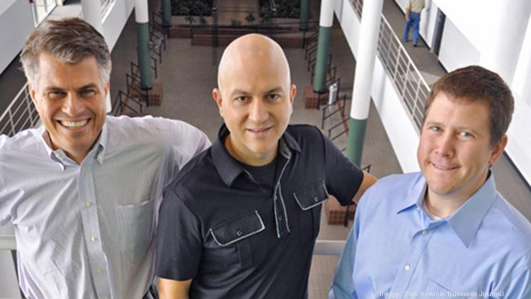 File photo of Denim Group principals John Dickson, Sheridan Chambers and Dan Cornell. The company is relocating out of the Technology Center into larger quarters.