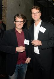 Mark Malmberg of the Nerdery (left) and Jorg Pierach of Fast Horse, two Fast 50 2013 winners.