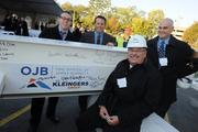 The team from engineering firm Kleingers Group gathered for the event.