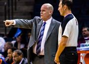 Charlotte Bobcats head coach Steve Clifford tries to get a referee to see things his way.