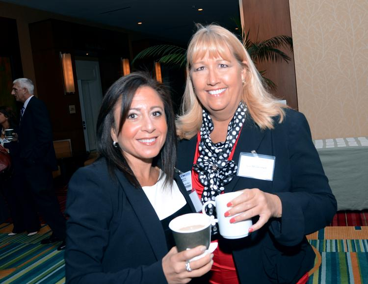Melissa Madison of Florida Hospital and Sue McDermeit of Gaylord Palms Resort & Convention Center met up at the networking event.