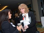Eileen Gibson of Averett Warmus Durkee mingles before the awards event.