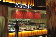 At the Asian station, guests can find items like dim-sum and Szechuan eggplant.