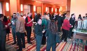 Space fills up fast during the pre-event networking session.
