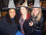 Shay Orielle, Rachel Heiser and Alyssa Mutryn at East Passyunk Avenue Business Improvement District's Witch Craft Beer Crawl, which attracted 500 people.