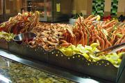 This seafood station is in the Marketplace.