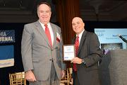 PBJ Editor Craig Ey presenting at the 2013 Innovation Awards presented by the Philadelphia Business Journal.
