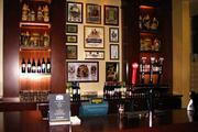 Here's a look at the bar area, which features local brews.