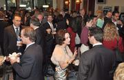 Attendees enjoyed networking in the foyer of the Broward Center for the Performing Arts.
