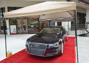 The red carpet was rolled out for the Audi A8, which drew a lot of attention from guests attending the event.