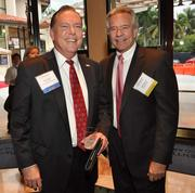 Sponsor Bob Swindell of The Greater Fort Lauderdale Alliance with past honoree Keith O'Donnell of Avison Young.