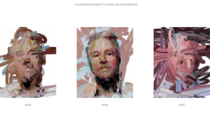 Walter Vanhaerents' self-portrait changes while he is driving, in this LCD display by multimedia artist Sergio Albiac.