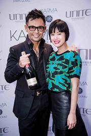 Karma by Erwin Gomez held its Emerald Spring event March 20 to toast the new season. Erwin Gomez and Marlene Hu of Hu's Wear & Hu's Shoes.