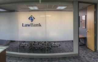 A conference area in the LawBank co-working space.