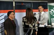 David Privitera (left) of Concorde Construction Co. and Tyler Steele of New Forum were among the attendees at CREQ Live.