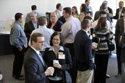 Guests network and have breakfast before the start of CREQ Live.