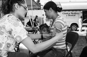 Virginia Garcia Memorial Health Center A mother holds her daughter during her blood pressure check at our mobile clinic. Budget: $37 million Staff: 354 CEO: Gil Munoz Board chair: Chad Cheriel